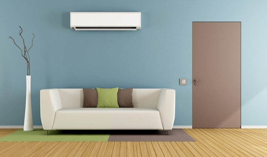 ductless system working inside a home after learning how to maintain their ductless heating & cooling system