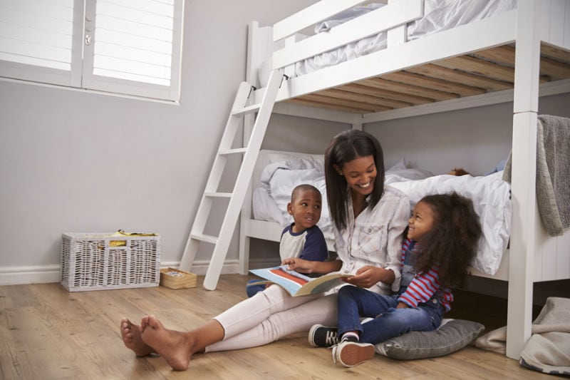 Family spending time together in home after understanding how important it is to keep their indoor air quality clean.